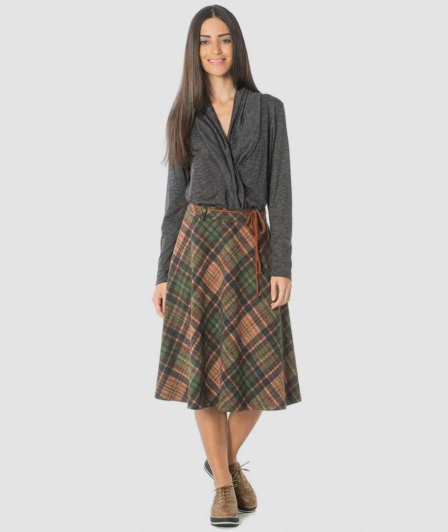 744270730550 Károvaná sukně - Attrattivo