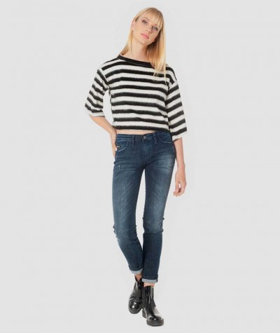 Striped 3/4 blouse
