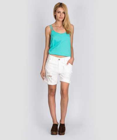 Jean shorts white